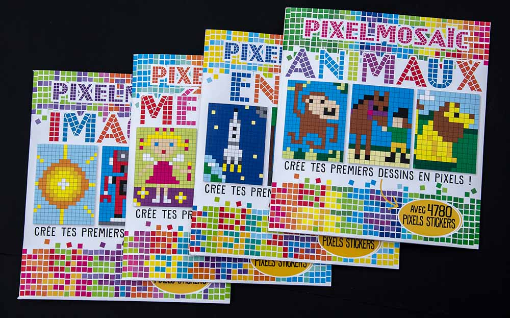 Pixel Art Sticker Book